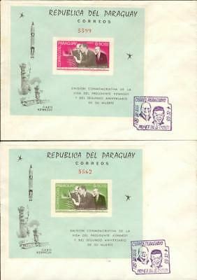 Paraguay FDC s´sheet Michel Nr. 71-72 outer space ew01
