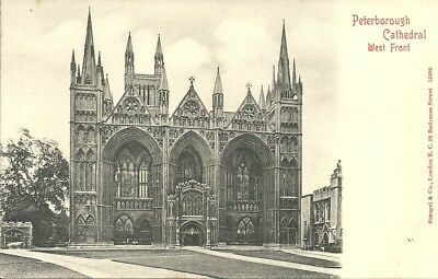 Vintage View  Of West Front, Peterborough Cathedral, Peterborough, Cambs.
