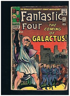"""Fantastic Four VOL.1 #48 1ST SILVER SURFER AND 1ST GALACTUS"""" LOWER GRADE 3/1966"""