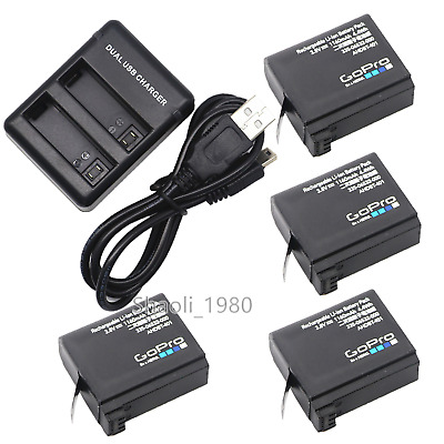 New Genuine Original Gopro AHDBT-401 battery Charger For Hero4 HD Black Silver