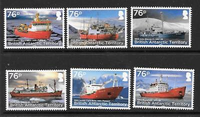 British Antarctic Terr. Sg735/40 2017 Rrs Research Ships Mnh