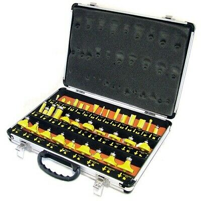 "35 Piece 1/4"" Shank Tct Router Bit Set & Carry Case - Tungsten Carbide Tipped"