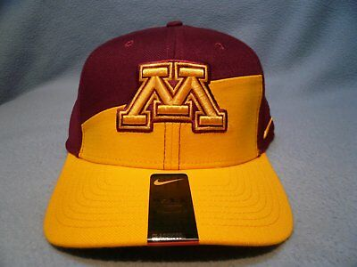 info for d012a 0c2ca Nike Minnesota Golden Gophers College Verbiage M L BRAND NEW curved bill hat  cap