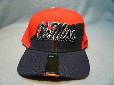 finest selection 6c3b8 fd253 Nike Ole Miss Rebels College Verbiage S M or M L BRAND NEW curved