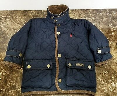 Polo by Ralph Lauren Classic Baby Boy Girl Quilted Car Coat  9-12M
