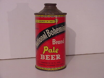 National Bohemian Beer Low Profile Cone Top Can Baltimore Md Maryland Irtp