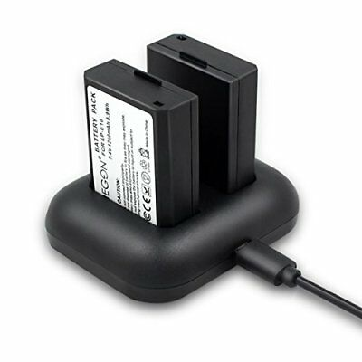 Replacement Battery 2-pack And Rapid Dual Charger For Canon Lp-e10 And Canon Eos