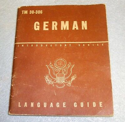 Us Army Wwii German Language Guide 1943 Dated Nice Condition Original Period