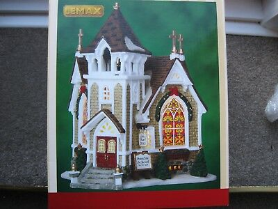 Lemax Christmas Village Little River Church B/O LED - 45069 NEW in box