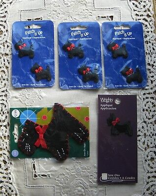 5 Packages of Scottie Dog Applique's Sealed and Never Used