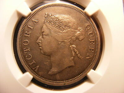 STRAITS SETTLEMENTS 1896 SILVER 50 CENTS, VF-30, NGC Holder