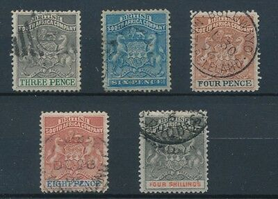 [38719] South Africa Rhodesia 1890/95 Good lot Very Fine used stamps