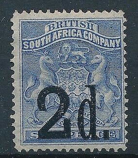 [38722] South Africa Rhodesia 1891 Good stamp Very Fine Mint no gum
