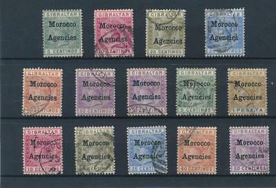 [38855] British Morocco Good lot old stamps Very Fine used