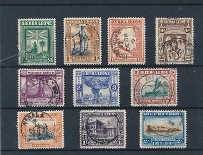 [38924] Sierra Leone 1933 Good lot Very Fine used stamps