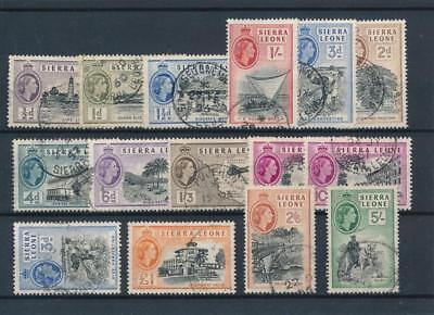 [38929] Sierra Leone 1956 Good lot Very Fine used stamps