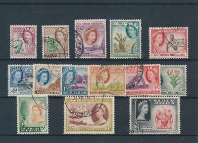 [38991] Southern Rhodesia 1953 Good set Very Fine used stamps