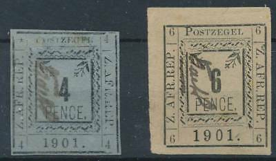 [39048] Transvaal 1901 Two good stamps Very Fine Mint No Gum