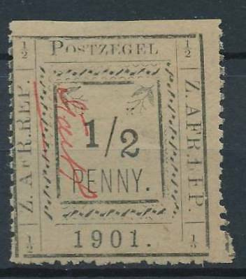 [39051] Transvaal 1901 Good stamp Very Fine MH signed part of perforation
