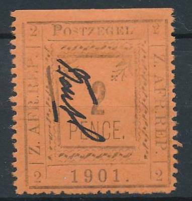 [39052] Transvaal 1901 Good stamp Very Fine MH part of perforation