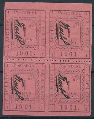 [39056] Transvaal Good block of 4 part of perf. VF MNH/one stamp VF MH