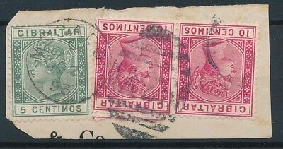 [39245] British Morocco 1893 Good lot of stamps on piece Very Fine used MOGADOR