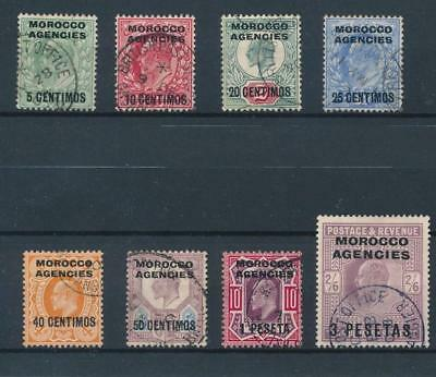 [39254] British Morocco 1907/10 Good lot Very Fine used stamps