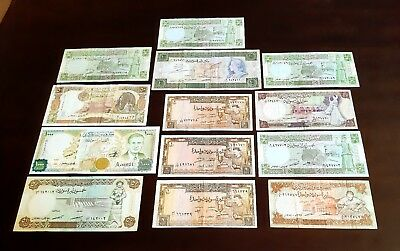 Syria - Lot Of 13 Banknotes .