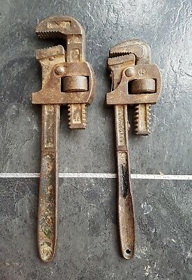 """Pair of vintage Monkey Wrenches 12"""" & 10""""  full working order"""