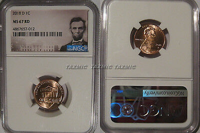 2018 D Lincoln SHIELD Cent 1c NGC MS 67 RD Lincoln Label  SPOTLESS