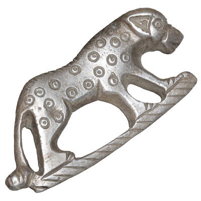 Circa 200-300 Ad Roman Silver Fibula Brooch-Panther Shaped