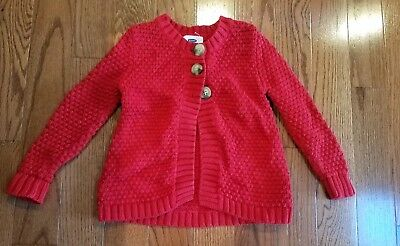 Old Navy Toddler Girls Red Cardigan Sweater- Size 4T SWEET