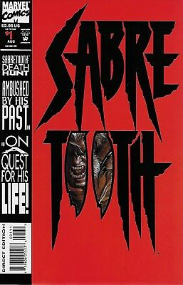 Sabretooth: Death Hunt No.1 1993 Special Die-Cut Cover / Larry Hama Mark Texeira