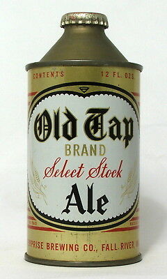 Scarce Old Tap Ale 12 oz. Cone Top Beer Can-Fall River, MA.