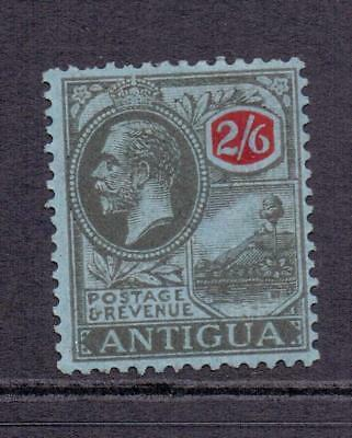 ANTIGUA KGV SG78 2s6d Black and Red and Blue MINT Fresh Face Cat £50