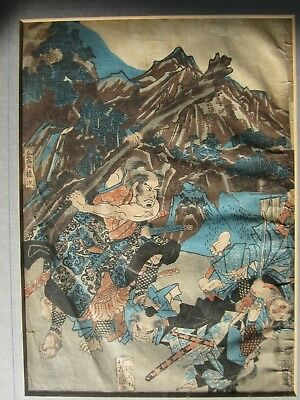 Antique Japanese woodlock print Utagawa Yoshifuji disciple of Kuniyoshi 1850s