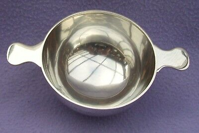 LARGE ANTIQUE EDWARDIAN SOLID SILVER QUAICH - BIRMINGHAM 1902 - MAKER CSG&Co