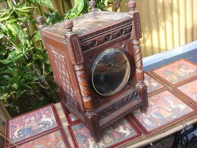Vintage  Mantle Clock Case  Just Case  For Restoration , Spare Or repair