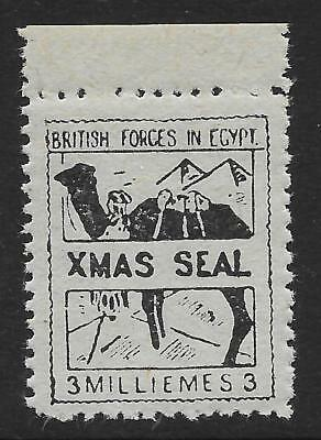 British Forces in Egypt 1932-35 3m Black/Azure Christmas Seal SG A3 (MNH)