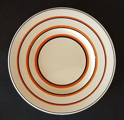 Small Susie Cooper Art Deco Orange and Black Banded Pottery Plate