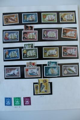 ANTIGUA 1970 SG269-85 Ships Thematic Full Set to $5 Fine MNH + extra Fine Used