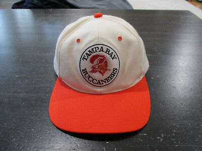 6cca07596 VINTAGE Tampa Bay Buccaneers Snap Back Hat Cap White Orange NFL Football 90s