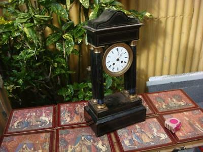 VINTAGE  French MANTLE  CLOCK FOR RESTORATION  OR SPARE / REPAIR