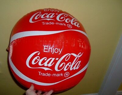 GIANT 1960s Coca Cola Advertising Soda Pop Store Display Inflate BALL Free ship