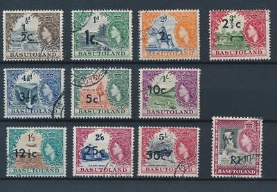 [50807] Basutoland 1961 good set Used Very Fine stamps $40