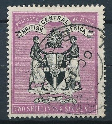 [50899] British central Africa 1895 Very good Used Very Fine stamp $275 (no wtmk