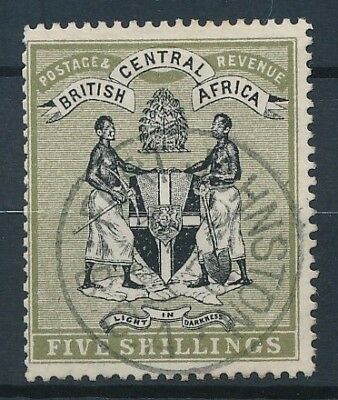 [50905] British central Africa 1896 good Used Very Fine stamp $195 (CC wtmk)