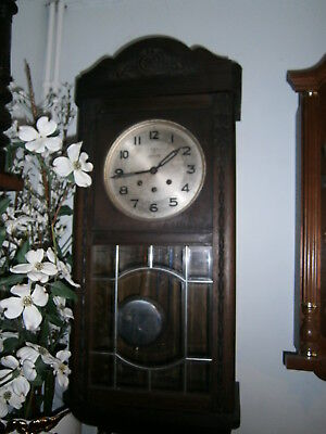 Antique Wooden Wall Clock JUPITER with Pendulum