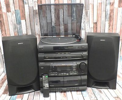 SONY LBT-G1 Stereo HiFi System With 3CD Changer PS-LX56 Turntable Remote  - S75