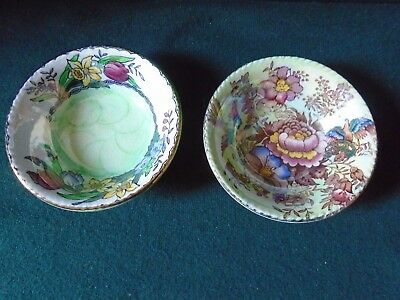 Two pretty Maling small dishes,different patterns